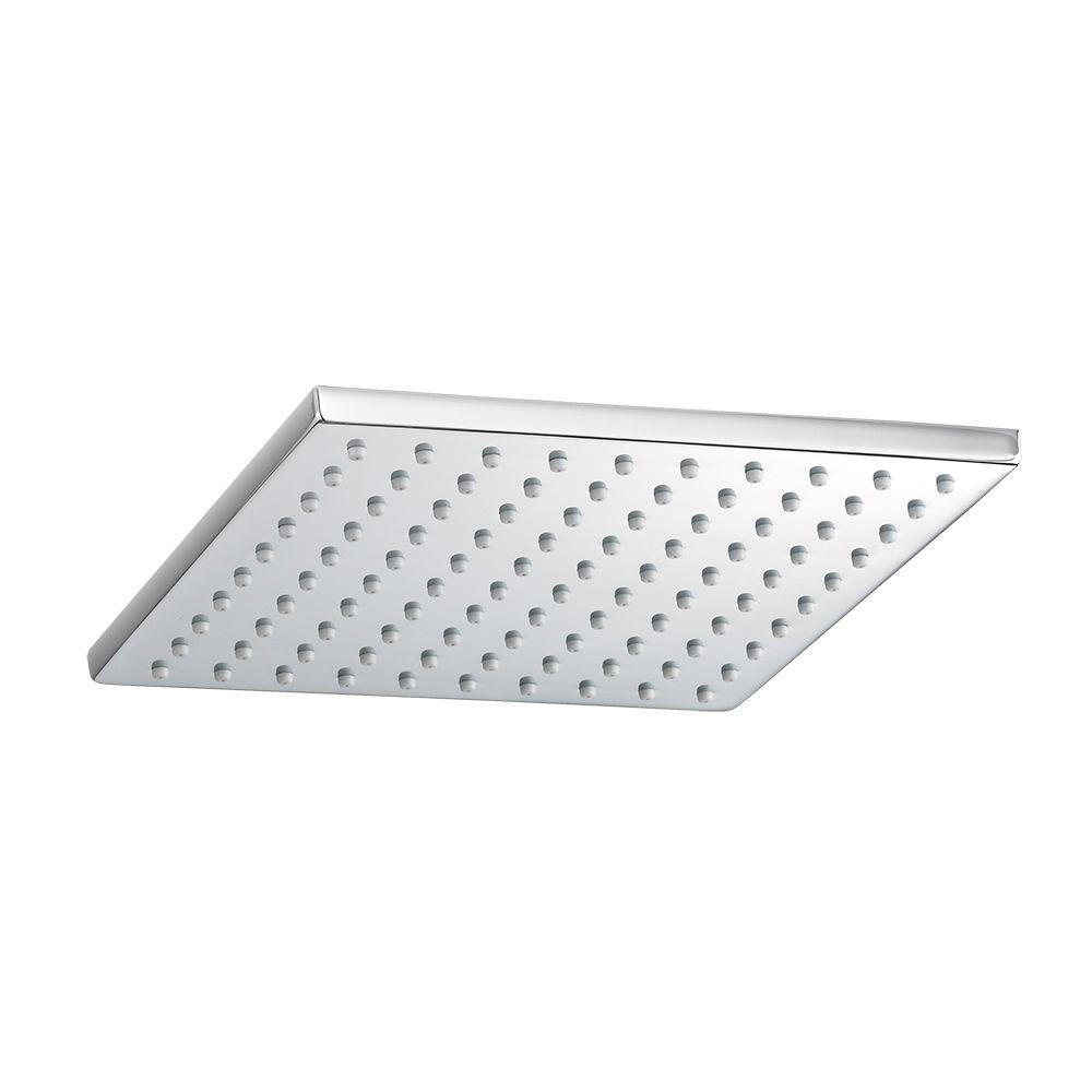 American Standard 1-Spray 8 in. Square Showerhead in Polished Chrome ...