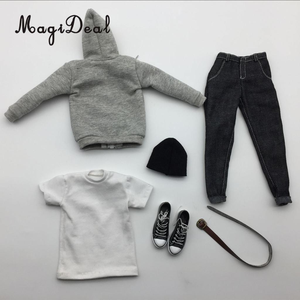 1//6 Scale Mens T-shirt//Cap//Jeans Pans//Jacket//Sweatshirt for 12/'/' Action Figure