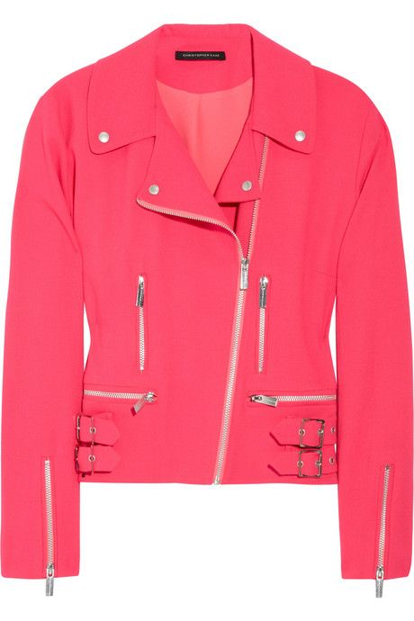 If I were a biker chick, THIS would be my jacket! Bright Pink Leather!!!!!