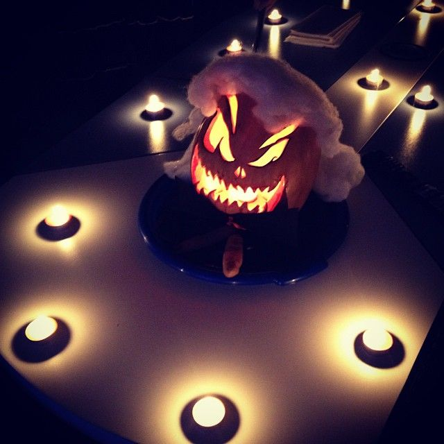 We're gonna win the best Halloween pumpkin contest! #pumpkin #contest #halloween #halloweenimage #design #interior #comboapp #mystique #blood #candles #scary #follow #like