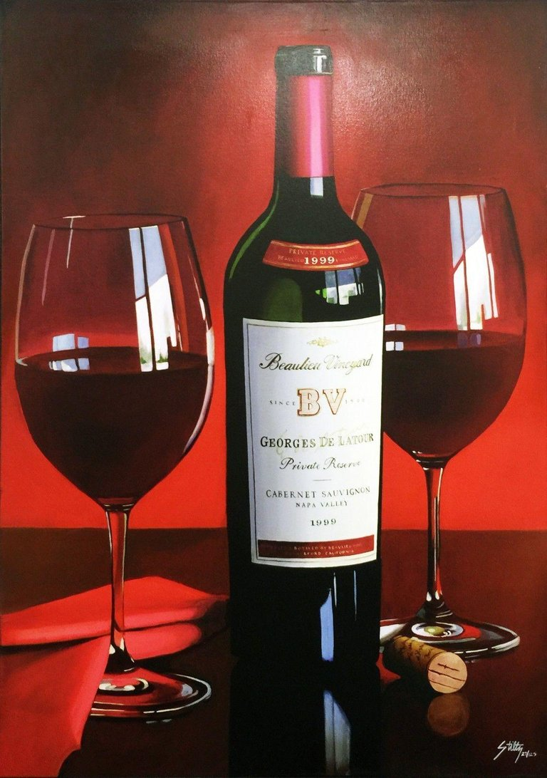 Thomas Stiltz Realist Interior Painting Bv Wine Wine Bottle Opener Red Wine