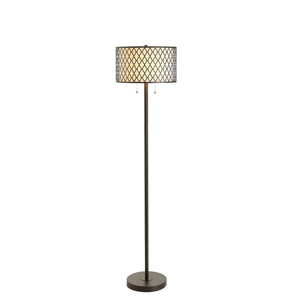 Bronze Laser Cut Dual Shade Floor Lamp 20042 000