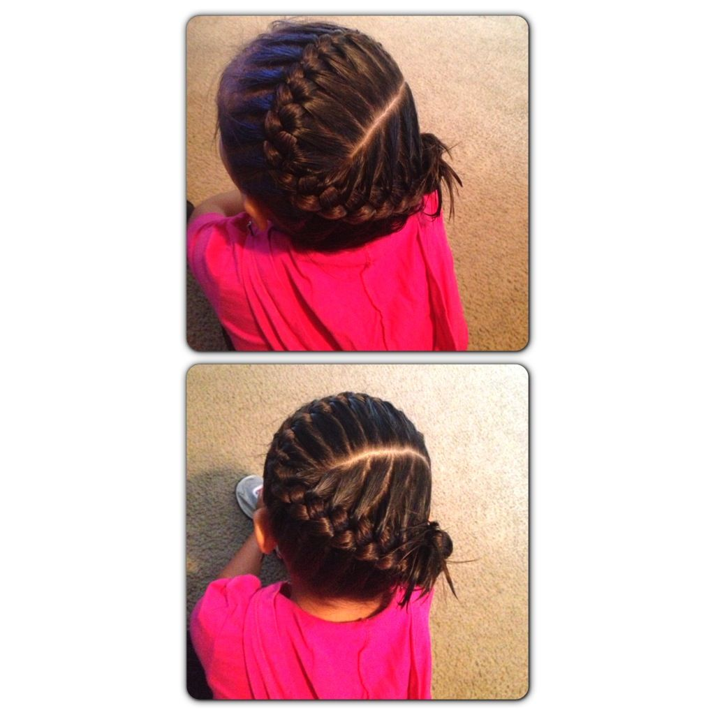 One side braid for kids this braid works well for my little girl