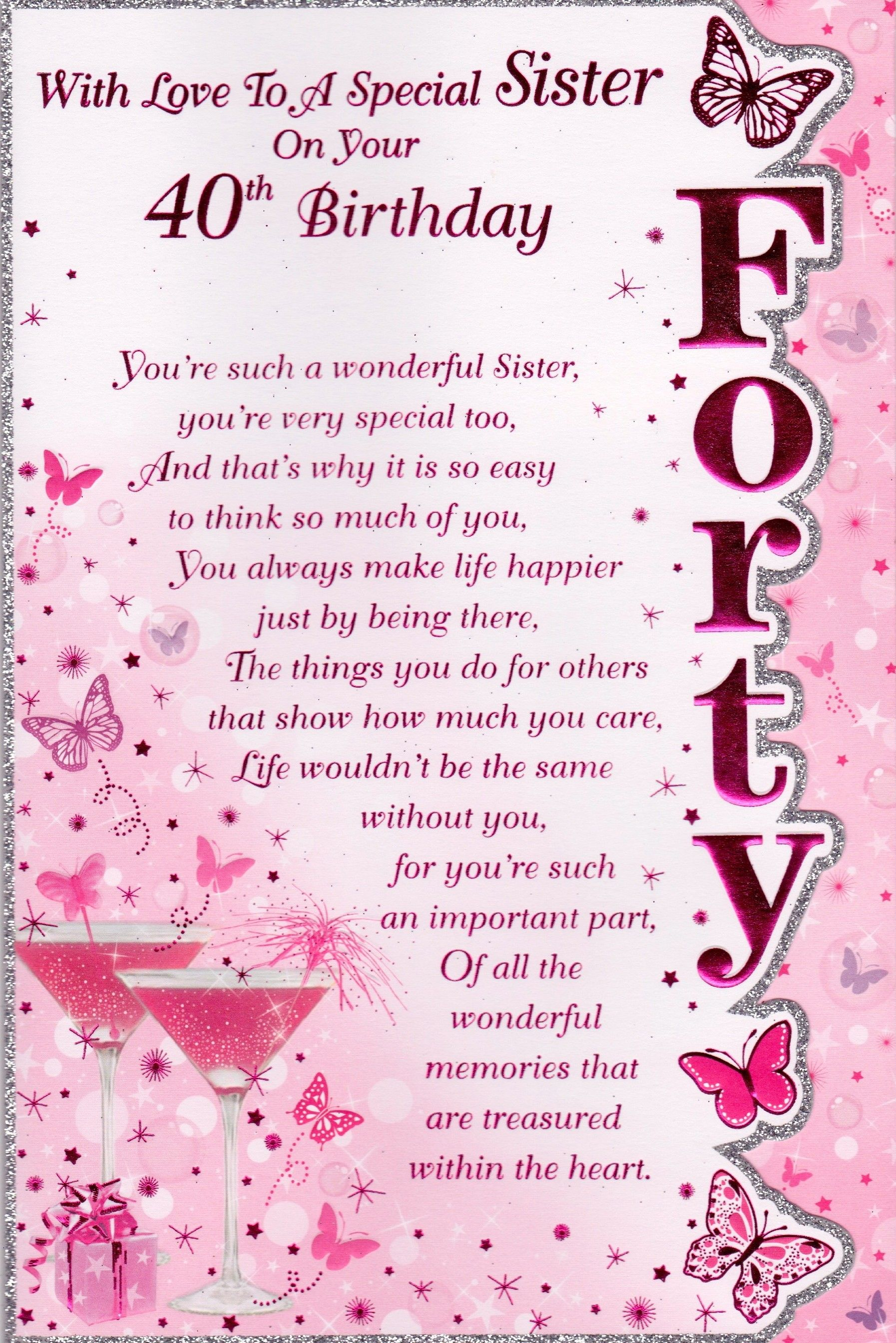 Happy Birthday Quotes For Sister Funny Happy 40th Birthday