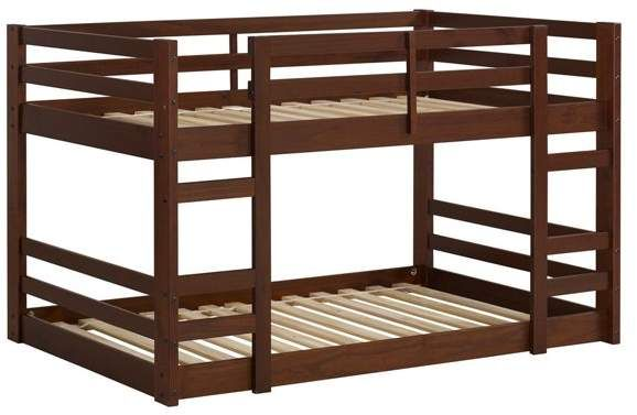 Walker Edison Low Wood Twin Bunk Bed In 2019 Products Twin