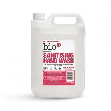 Bio D Sanitising Hand Wash Geranium 5ltr 17 10 Geraniums Sanitizer