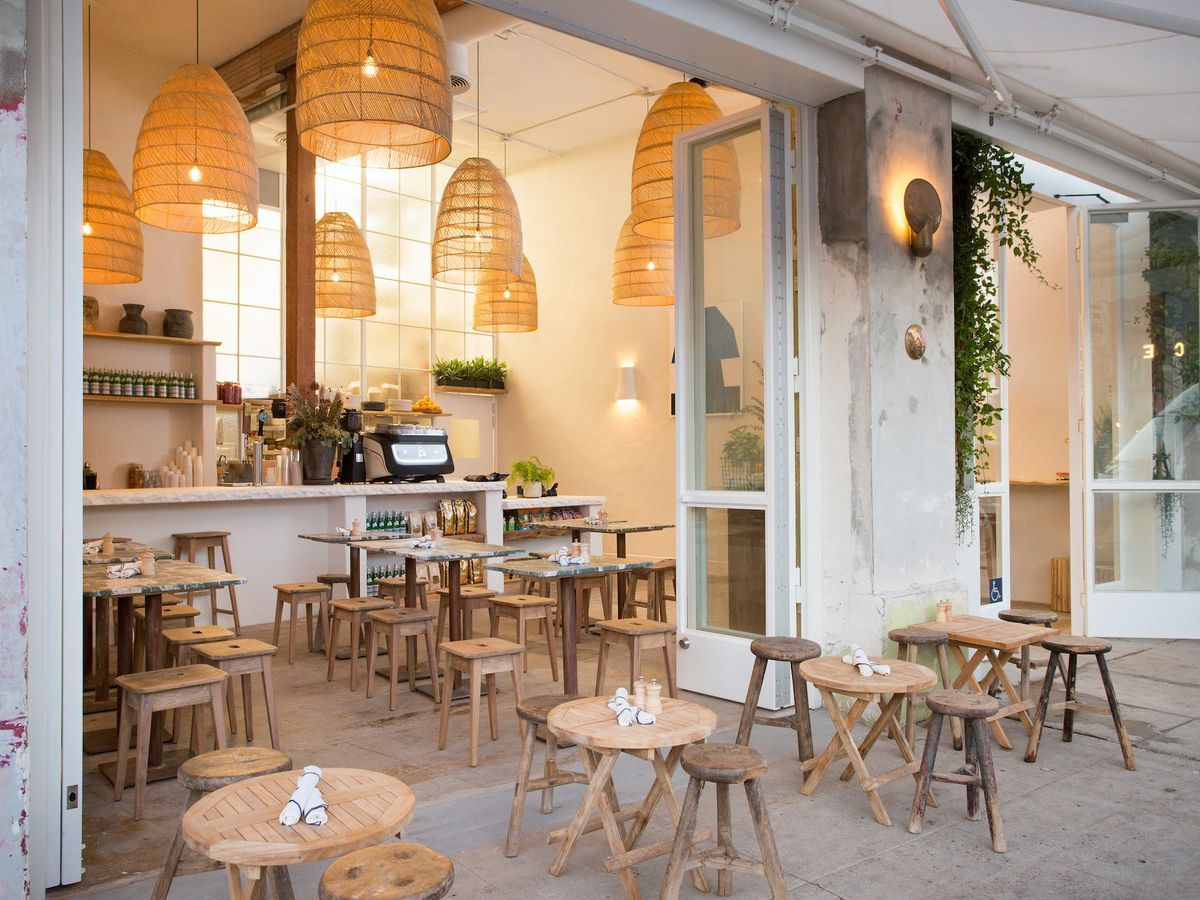 The 16 Best New Restaurants In Los Angeles Cafe Interior Design Coffee Shop Decor Restaurant Interior Design