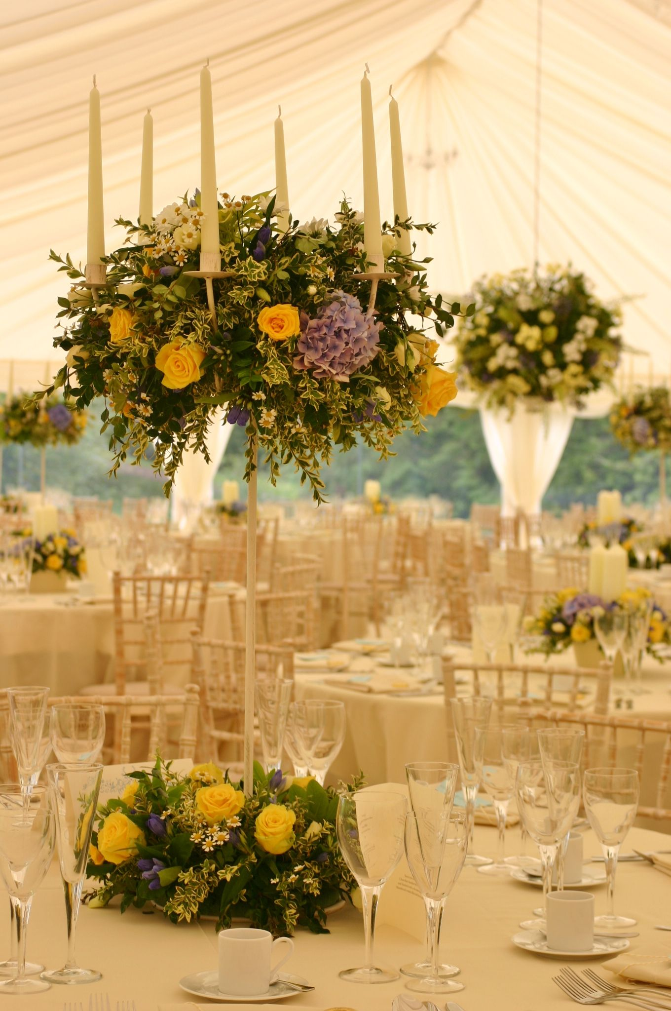 Ball Table Decorations Stunning Wedding Marquee With Floral Table Decorations And Hanging