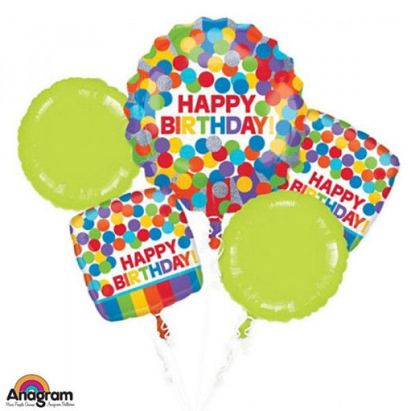 RAINBOW BIRTHDAY BALLOON BOUQUET Order Birthday Balloon Online In Bahrain