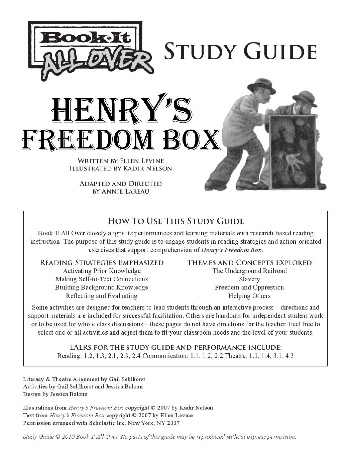 Henry S Freedom Box Study Guide