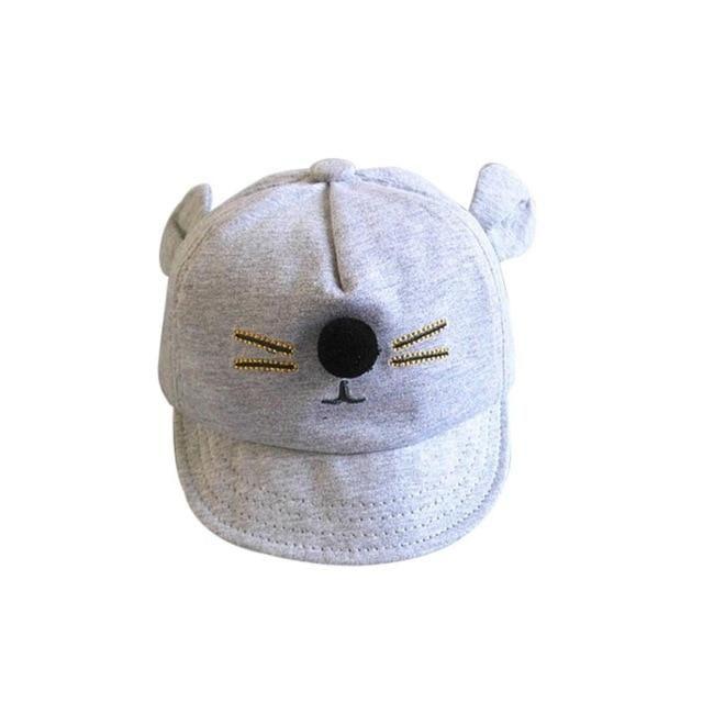 Newborn Toddler Kids Baby Girl Boy Visor Baseball Cat Little Ear Cap Warm Hat