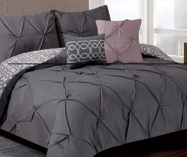 Living Colors Gray Mauve Texture 5 Piece Comforter Sets At Big