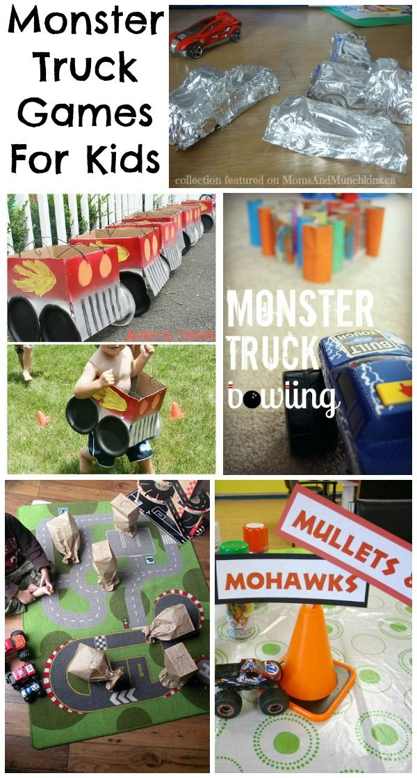 Monster Truck Games For Kids Moms Munchkins Monster Jam Birthday Party Blaze Birthday Party Monster Truck Birthday