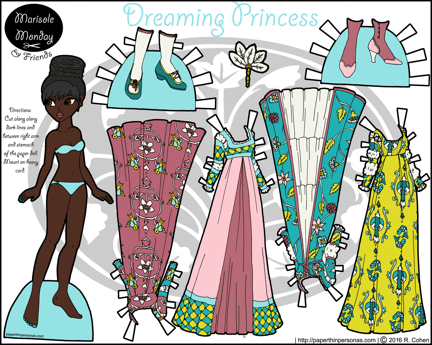 dreaming-princess-paper-doll-monica-color.png (1500×1200) | File ...