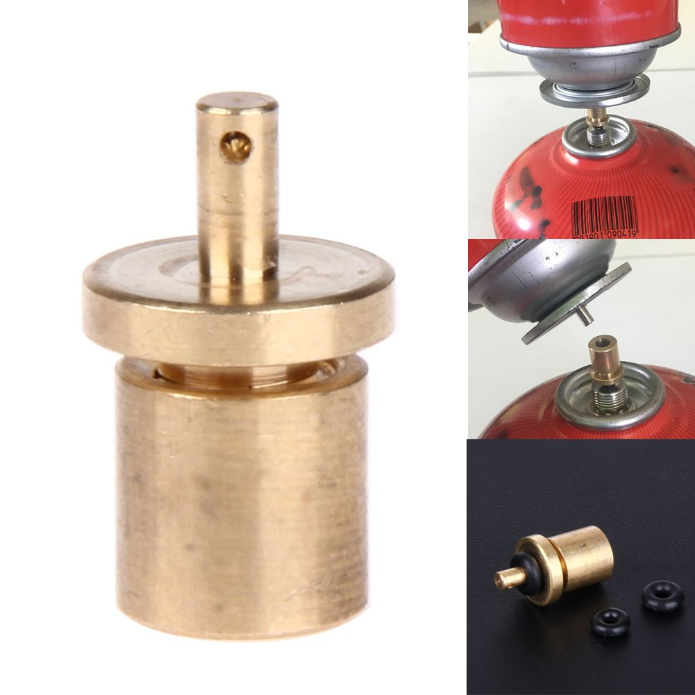 Camp BBQ Stove Connector Gas Tank Refill Adapter Cylinder Canister Converter
