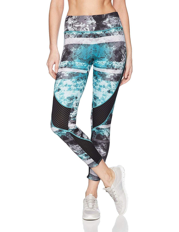 Women's Oceanflex Proform Capri Leggings | Breathable Mesh Panels | Super Stretch Fabric - Coral Cam...