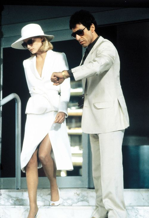 Michelle Pfeiffer and Al Pacino Scarface   1983