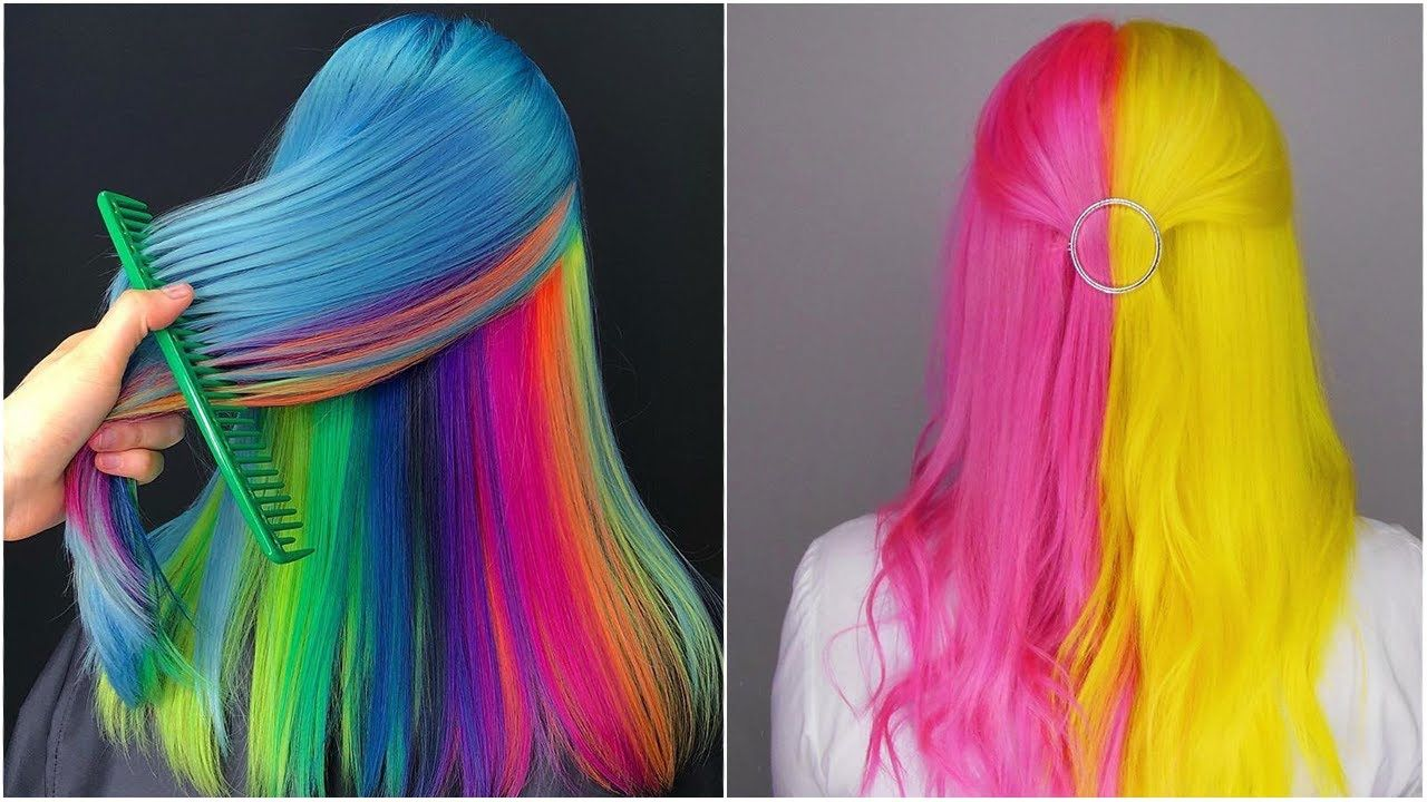 أغرب ألوان صبغات شعر للبنات 2020 هل تستطيعين فعلها صبغات شعر بنات جنو Hair Styles Hair Wrap Beauty