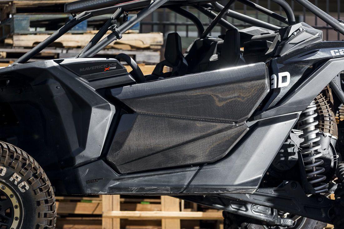 Carbon Fiber Can Am Maverick X3 Doors Crawltech Offroad Carbon Fiber Side By Side Accessories Can Am