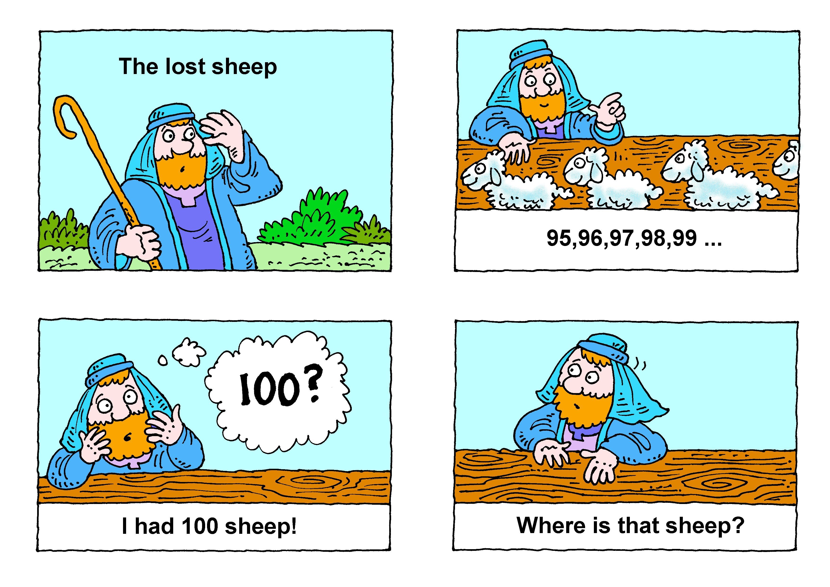 The Lost Sheep 1 2 3 4col Pictures With