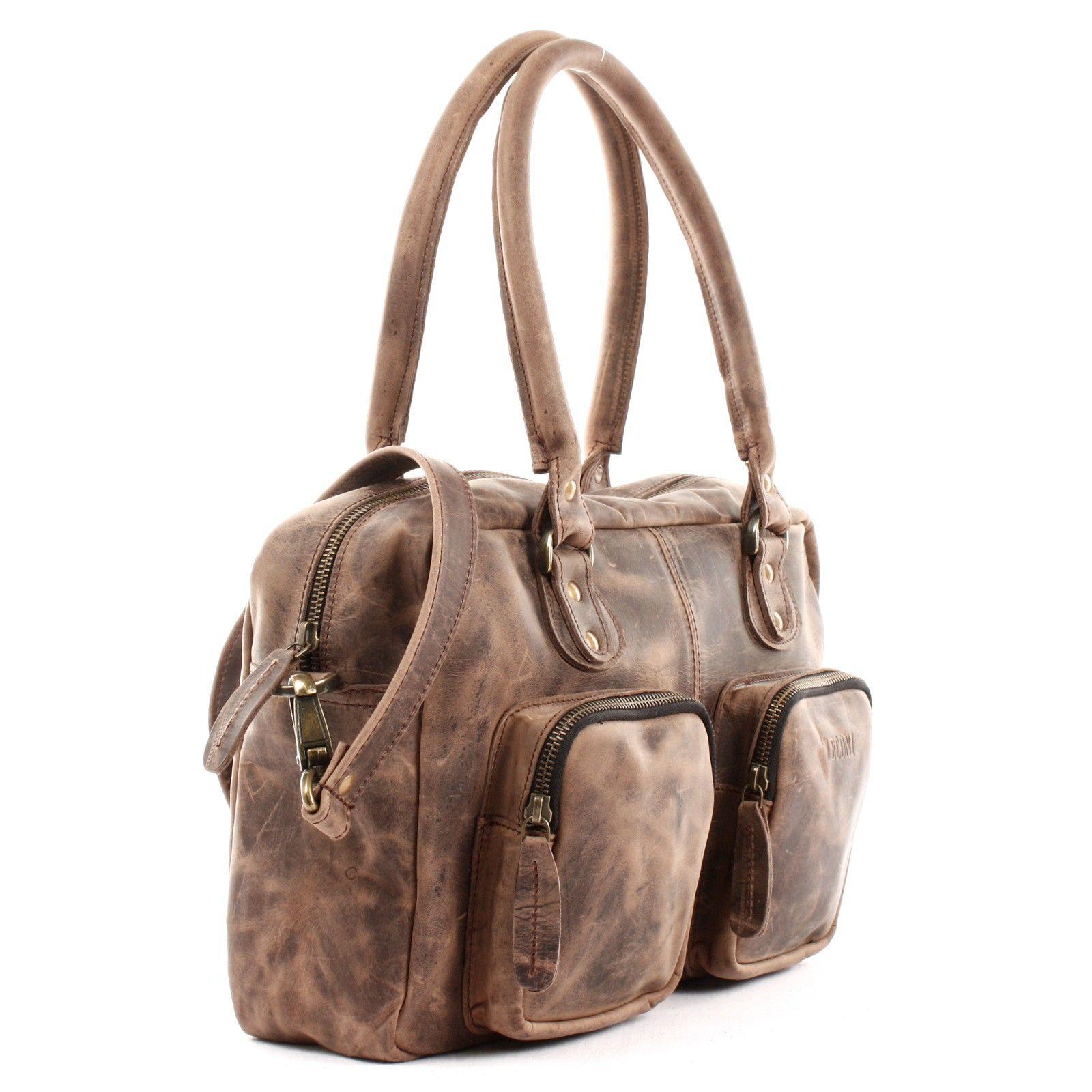 f9a4905d9cd62 LECONI Schultertasche Handtasche Leder schlamm LE0046