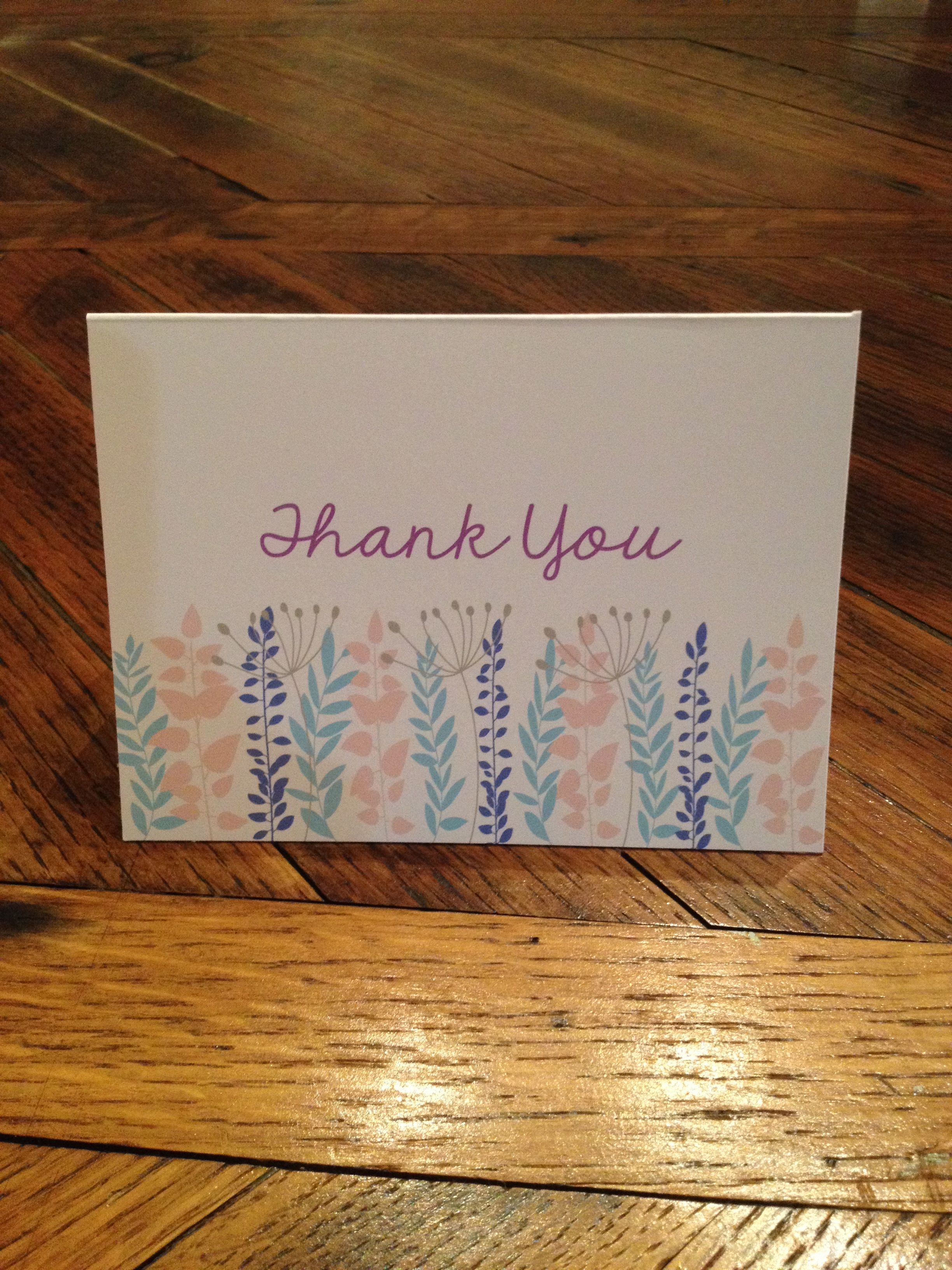 Personalized Stationary Or Thank You Notes Pictured 4X55 Folded Cards,