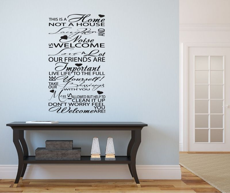 Welcome Typography HallwayLounge Vinyl Art Wall Stickers Quotes - Wall decals hallway