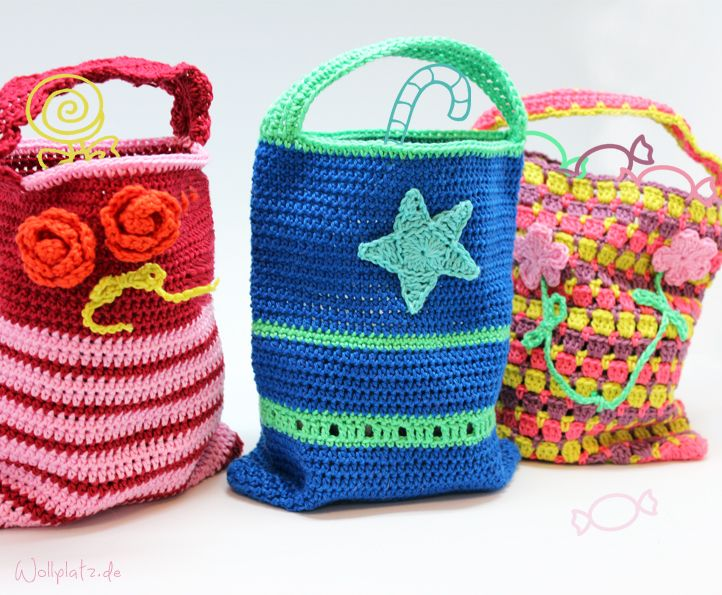 Kindertasche Häkeln Crochet Pinterest