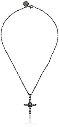 The Vatican Library Collection Vatican Color Basics Jet Swarovski Crystal Cross Necklace