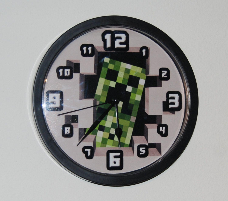 Handmade wall clock for minecraft gamer enthusiast by avilala handmade wall clock for minecraft gamer enthusiast by avilala 2499 amipublicfo Gallery