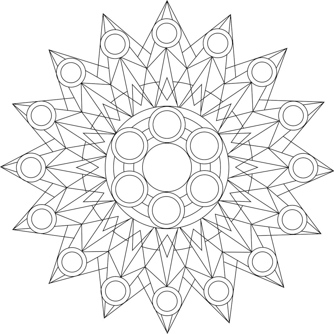Kaleidoscope a free printable