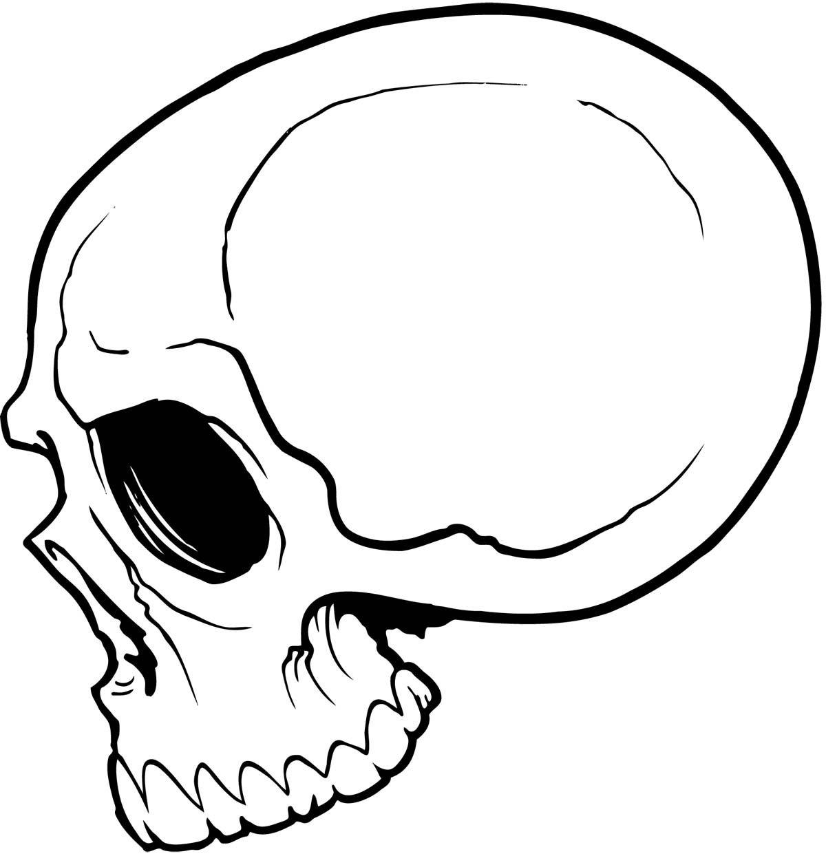 simple skull drawing - HD987×1024