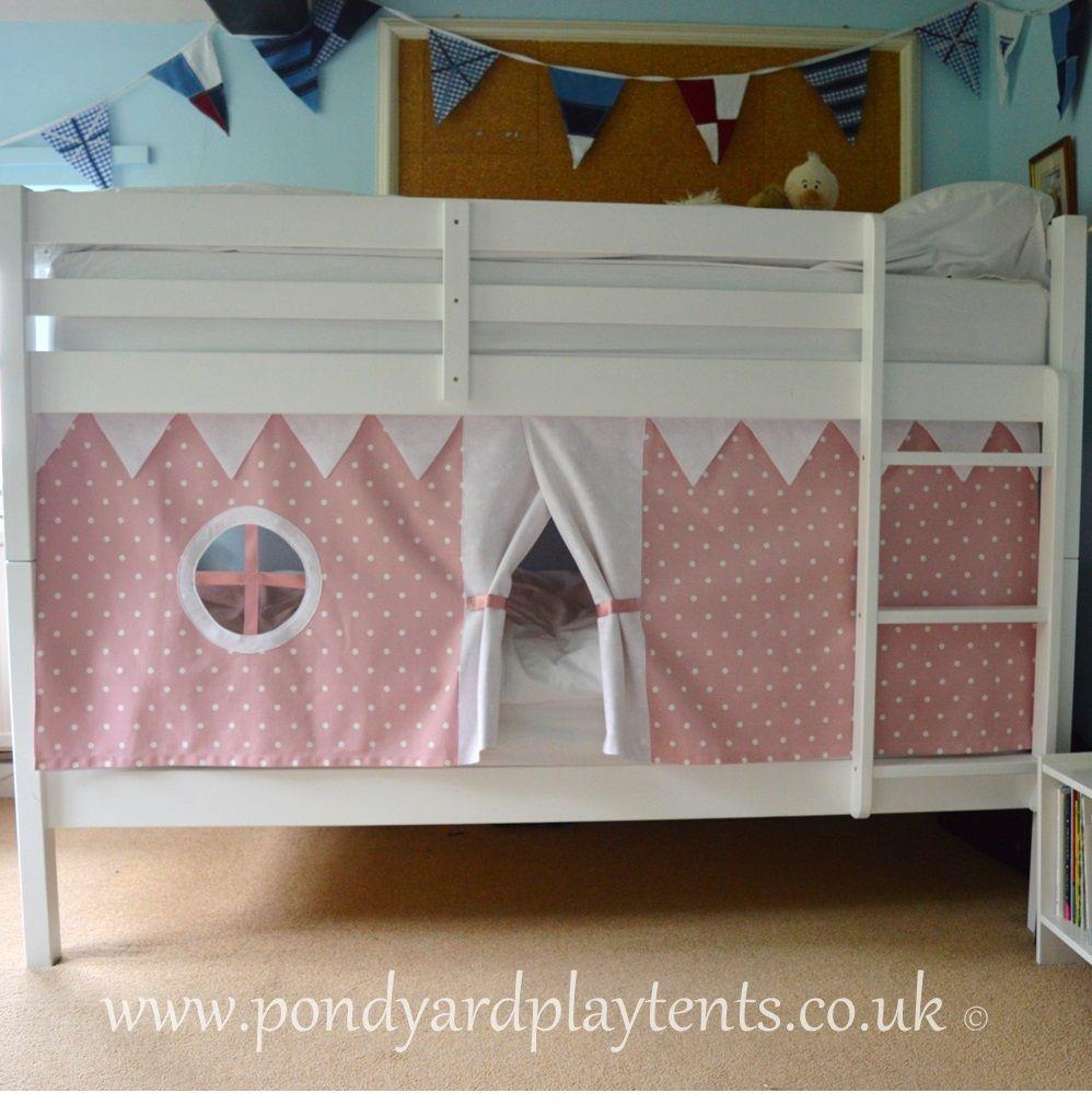 Pink Dotty Bunk Bed Tent Bunk Bed Tent Bed Tent Bunk Bed