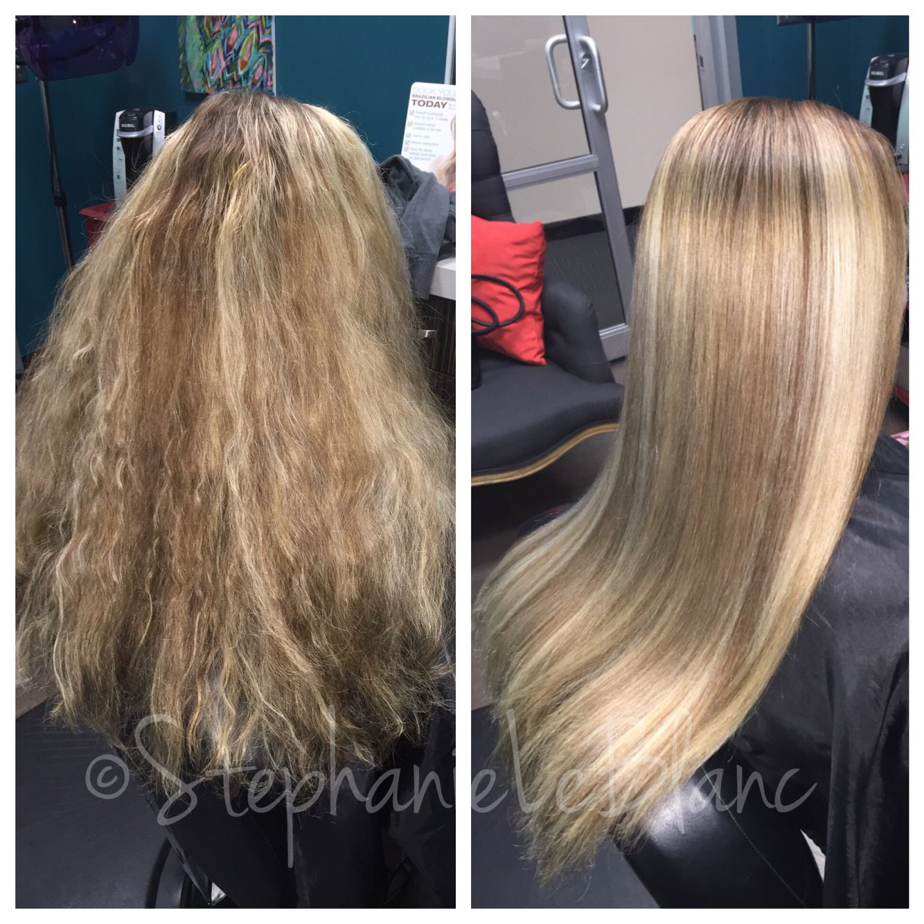 Before And After Color And Brazilian Blowout Hair By Me
