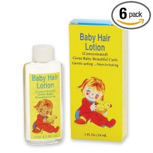 Nestle baby hair lotion....great smell, cute curls, and no