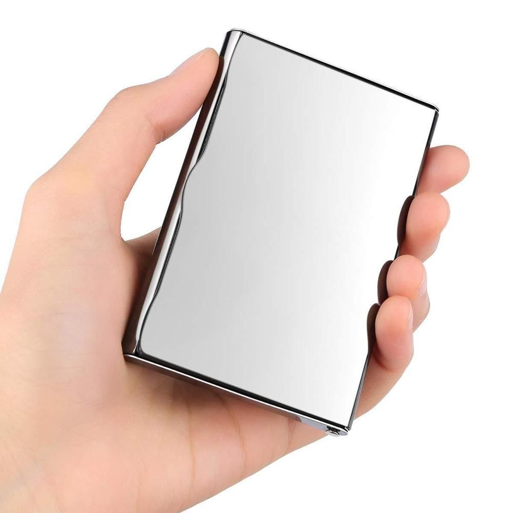 Velarnet Professional Business Card Holder Ultra Thin Mirror Stainless Steel Stainless Steel Card Holder Business Card Holders Business Card Case