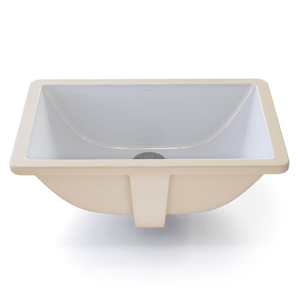 Decolav Classically Redefined Rectangular Undermount Bathroom Sink