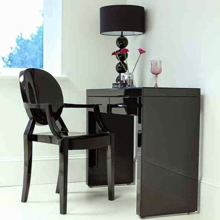 Best Black Dressing Table Designs With Glossy Surface 400 x 300