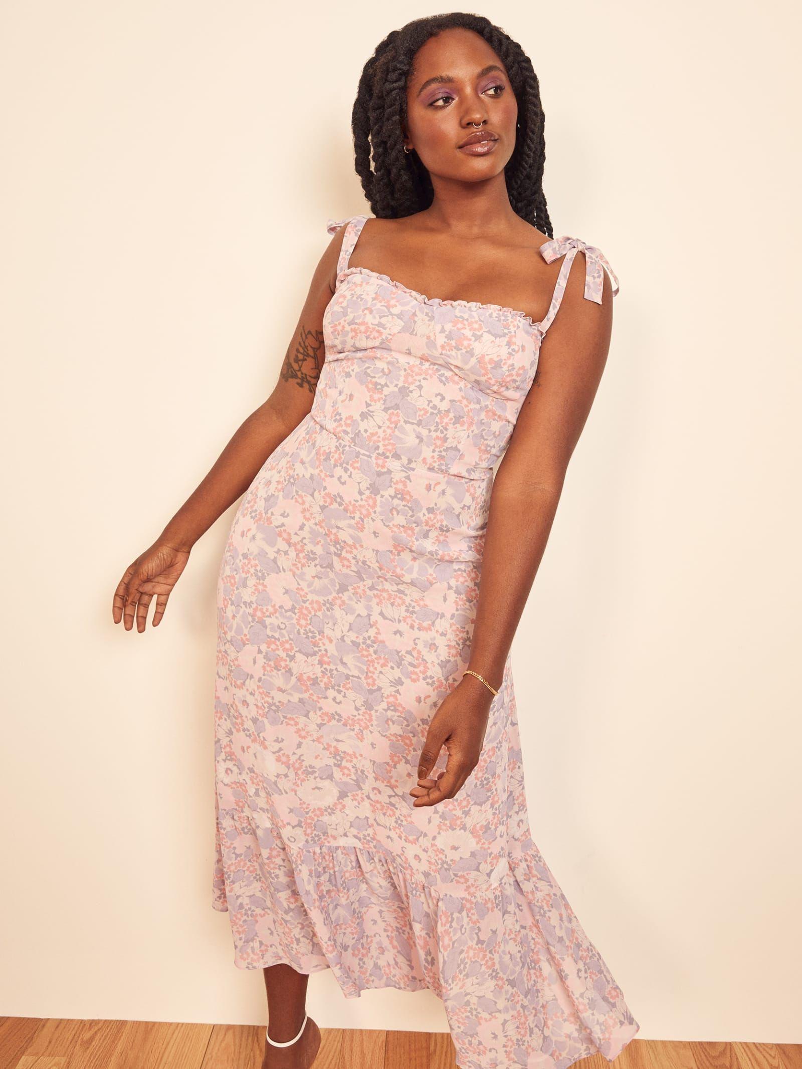 Dear Lover Ruffles Summer Party Dresses Nude Jacinth