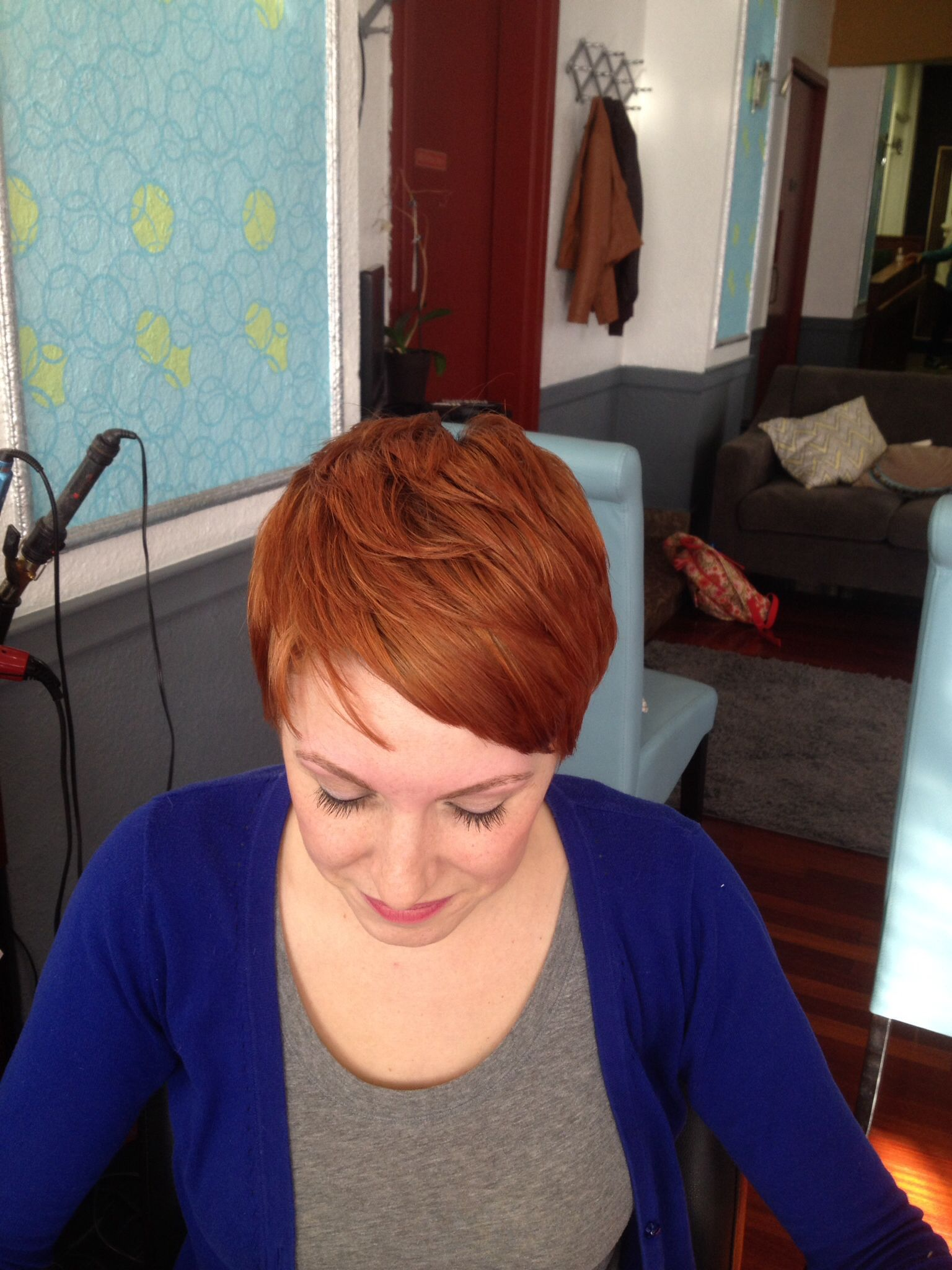 Pixie cut copper red color red pinterest hair red hair