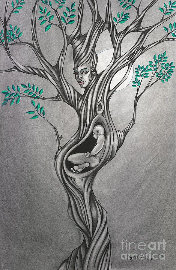 Mother S Nature By Lloyd Wade Tree Of Life Art Nature Drawing Art