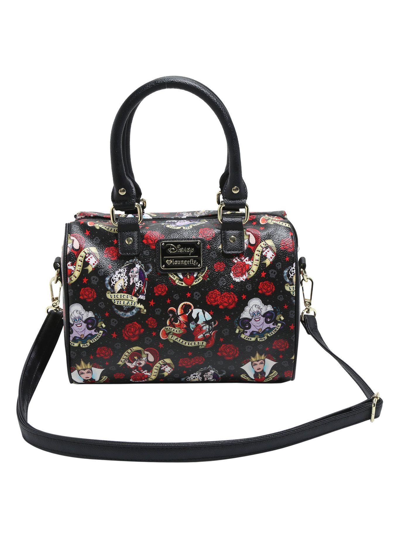 Loungefly Disney Villains Tattoo Flash Barrel Bag