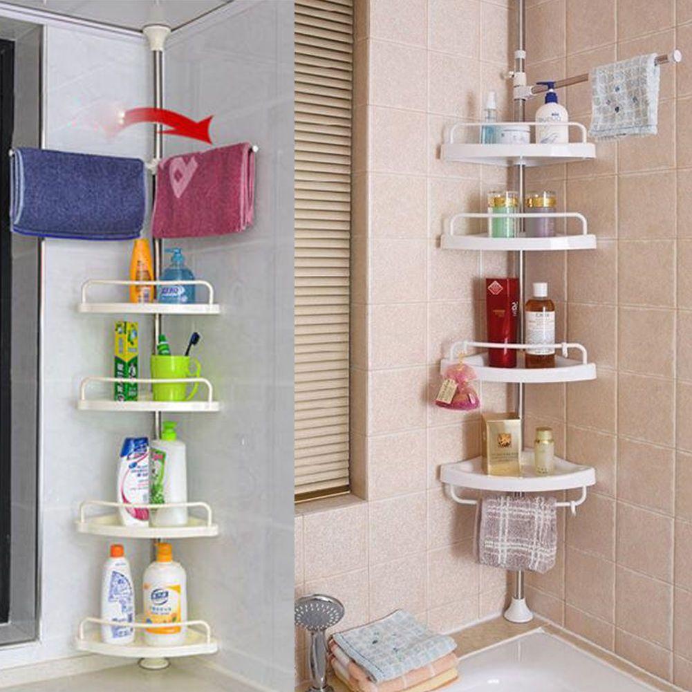 Bathroom Shower Caddy Shelf Corner Bath Wall Mount Rack Storage Holder Organizer 13 89 Bathroom Shower Shelves Shower Rack Shelf Baskets Storage