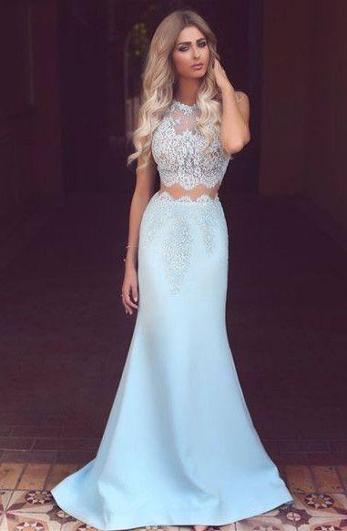 0dfb75e8fca Light Blue Prom Dresses