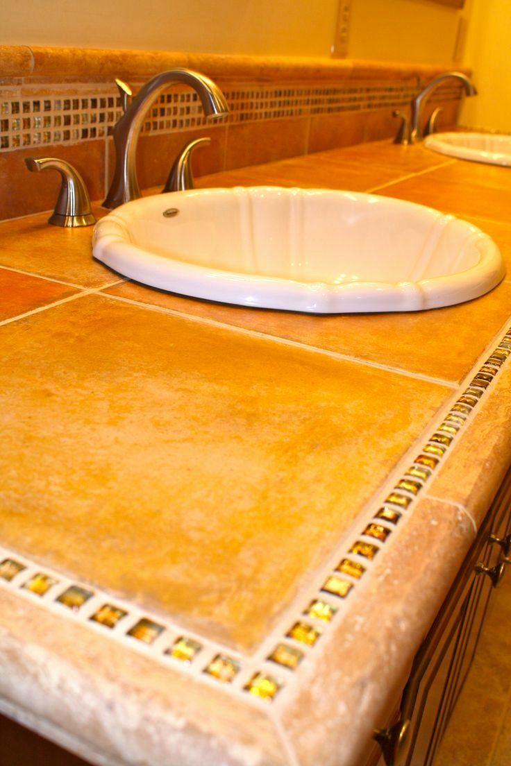 19 tile bathroom countertop ideas in 2020 bathroom