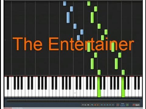 """How to play """"The Entertainer""""  http://www.zebrakeys.com/blog/2011/04/how-to-play-the-entertainer-on-piano/"""