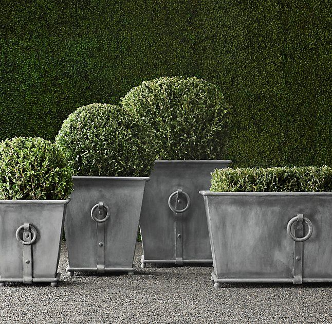 Estate Zinc Ring Square Planters | Garden | Pinterest | Planters on zinc planter boackround on white, zinc furniture, zinc bowls, zinc window boxes, zinc garden statues,