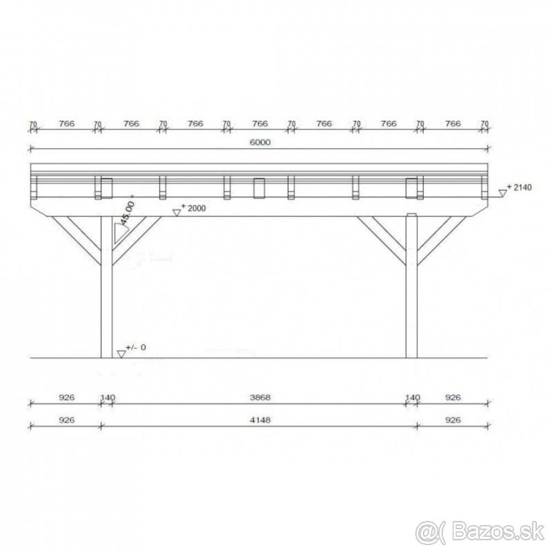Pristresok Na Auto Pristresok Na 2 Auta 6x6 5m Tvrdosin Bazos Sk Floor Plans Diagram