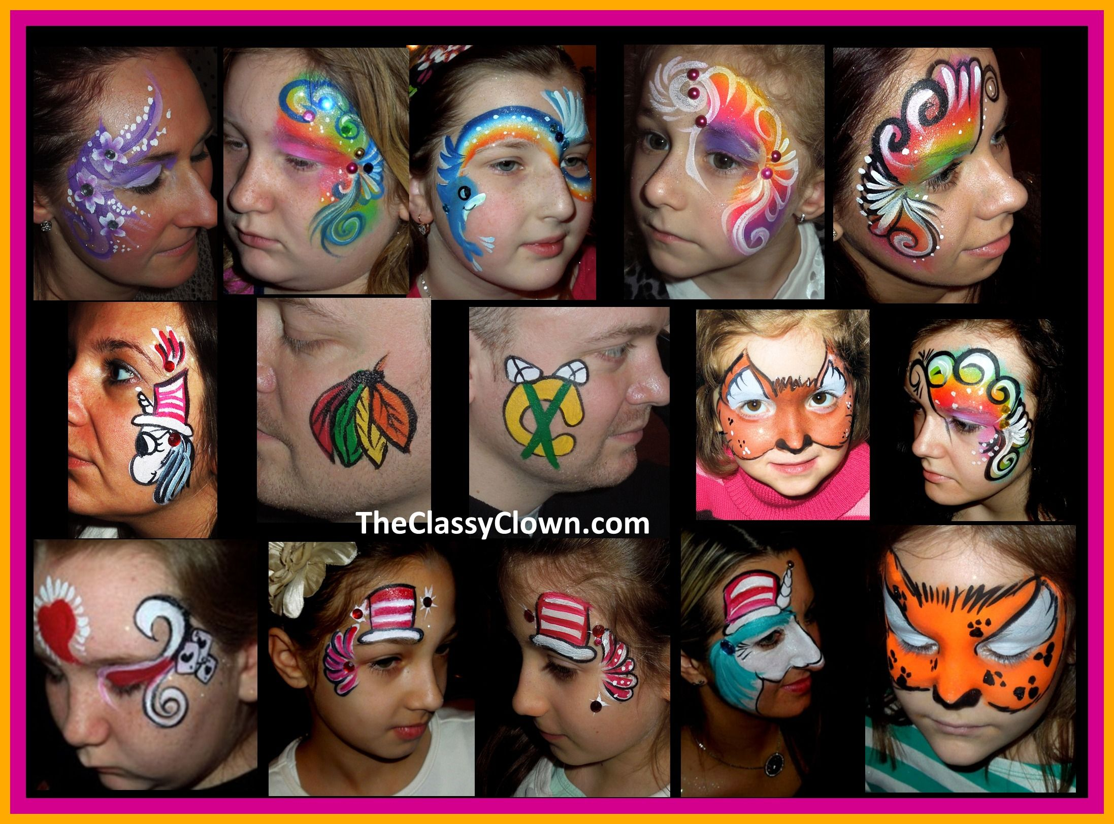 Great face painting ideas for kids' parties.. Chicago Face
