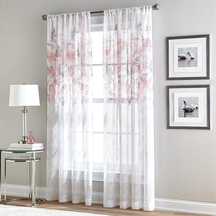Curtainworks Window Curtainworks Waterfloral Bloom Sheer Window